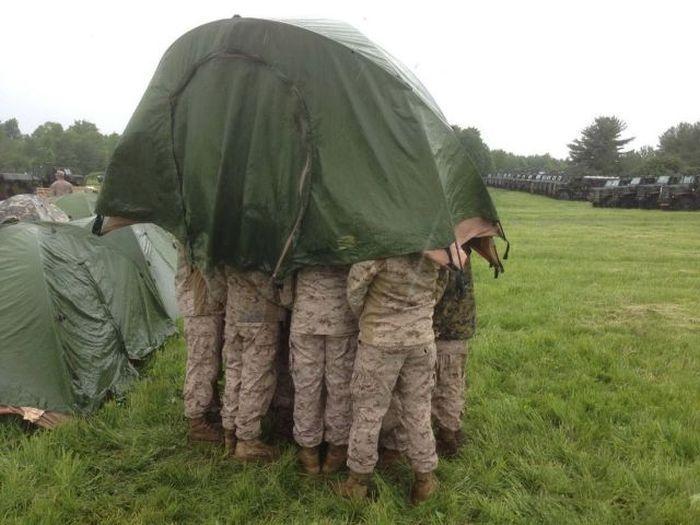 Зачетное фото палатка