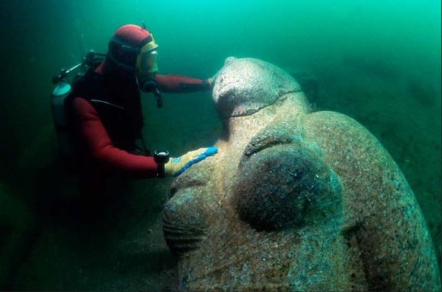 гераклеон, находка, раскопки, под водой,