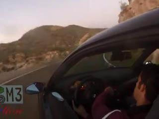 Авария BMW на горной дороге