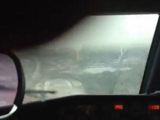 Полет на самолете во время грозы