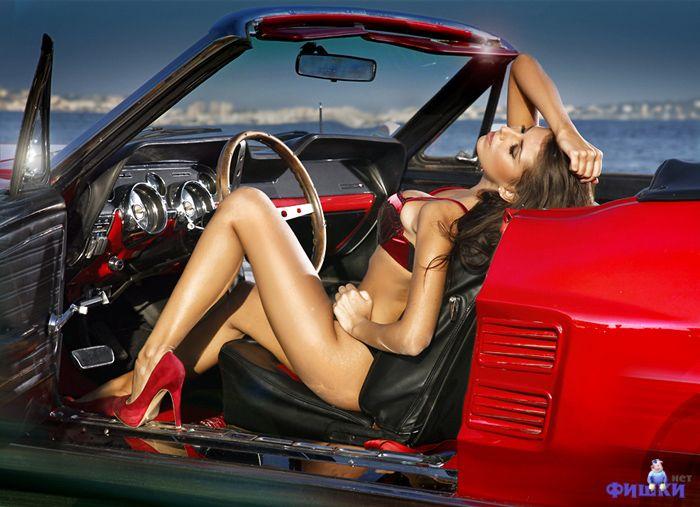 Сексуальные девушки на машинах фото 602-591