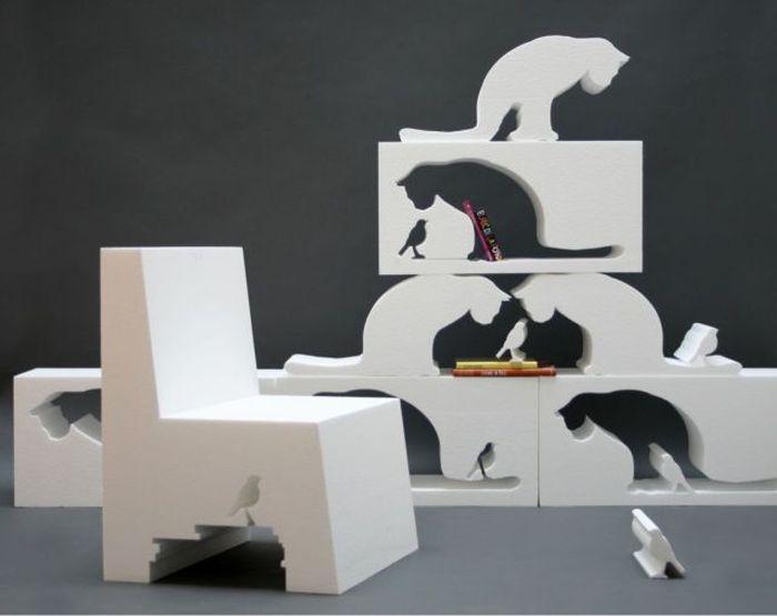 Фотоприкол кот, кошка, скульптура