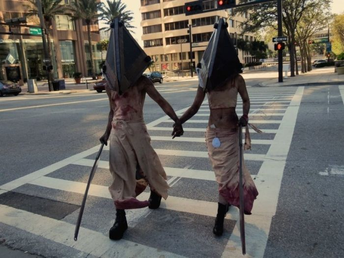 Новые фото костюм, маскарад, пешеходный переход, хэлоуин