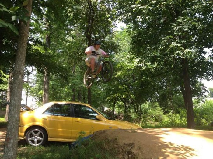 Новые фото велосипед, прыжок, трамплин