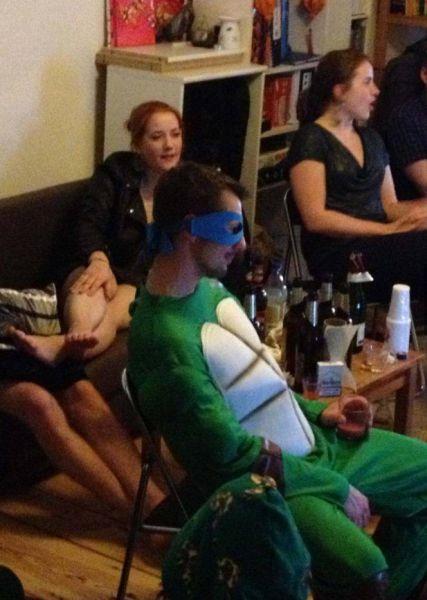 Бугагашеньки вечеринка, костюм, прикол, черепашка ниндзя