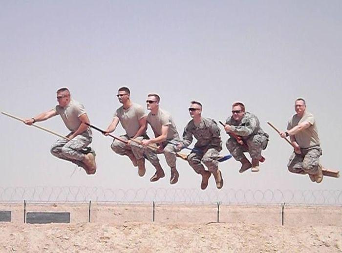 американцы, солдаты, военные, самолет