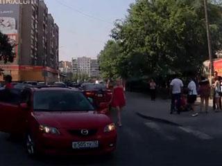 Сбили пешехода в Тюмени