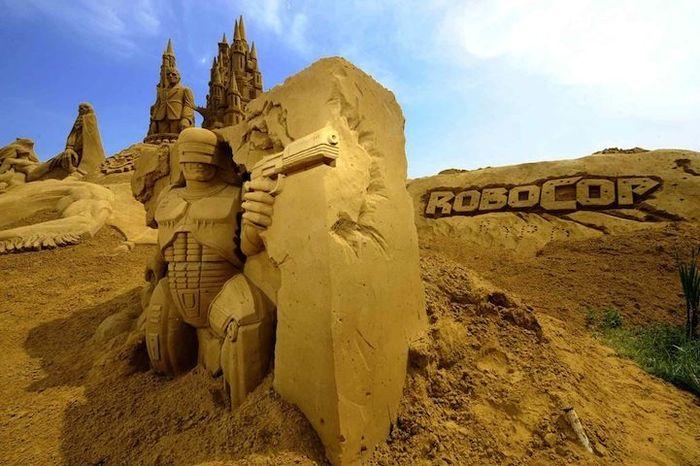 песок, скульптор, шедевр, фестиваль