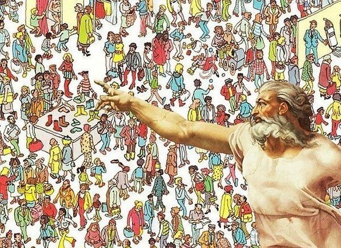 Бугагашеньки бог, картинка, рисунок, толпа