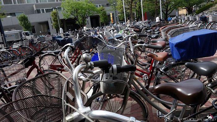 авто, велосипеды, транспорт, парковка, велопарковка, япония,