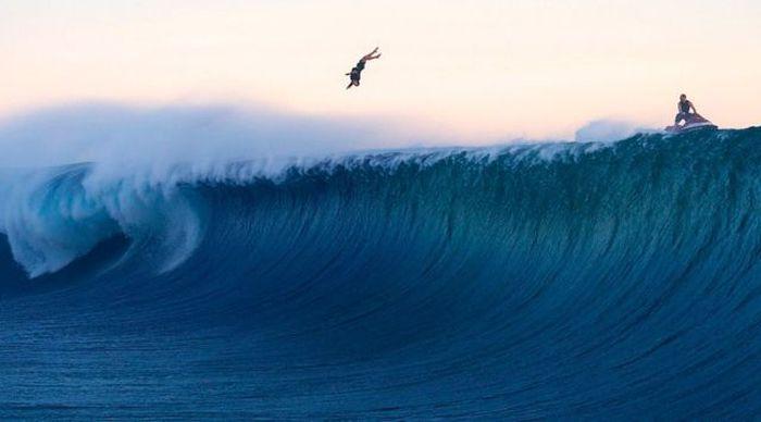 Смешная фотогалерея волна, круто, прыжок, серфинг