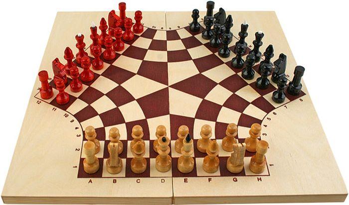 шахматы, партия, доска, вид, друзья