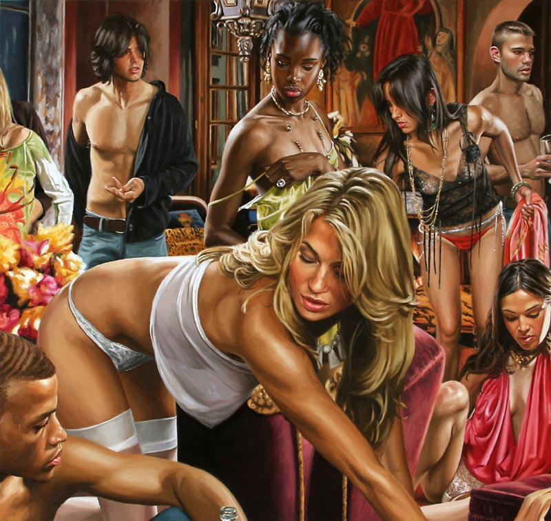 Roman orgy canvas prints