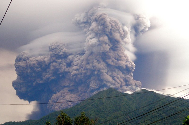 Вулкан Сопутан, 2008 г.