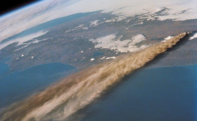 Вулкан Ключевский, Россия.
