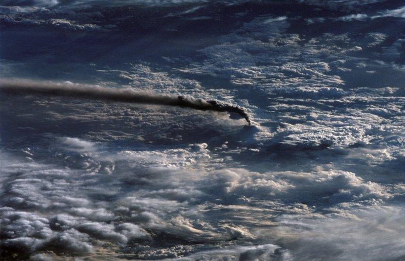 Вулкан Этна из космоса.