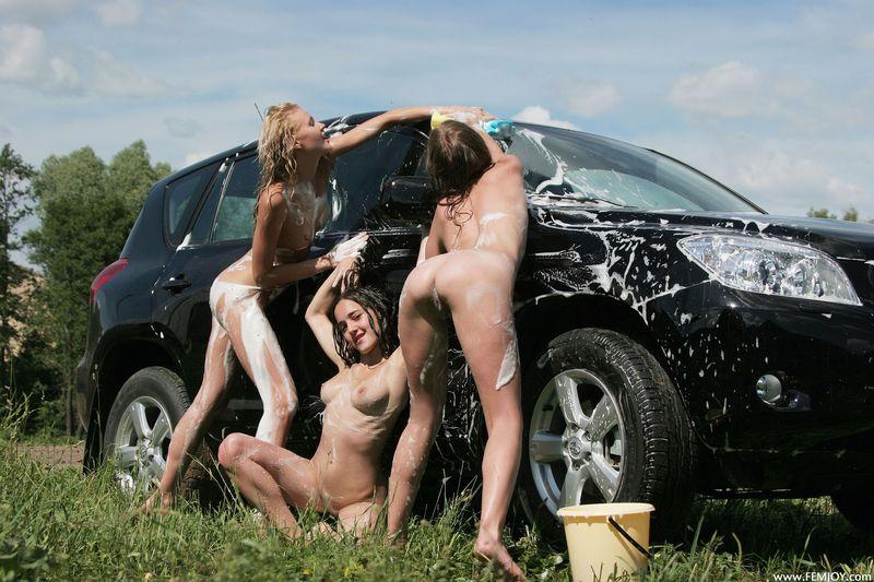 голышом на автомойке фото очень