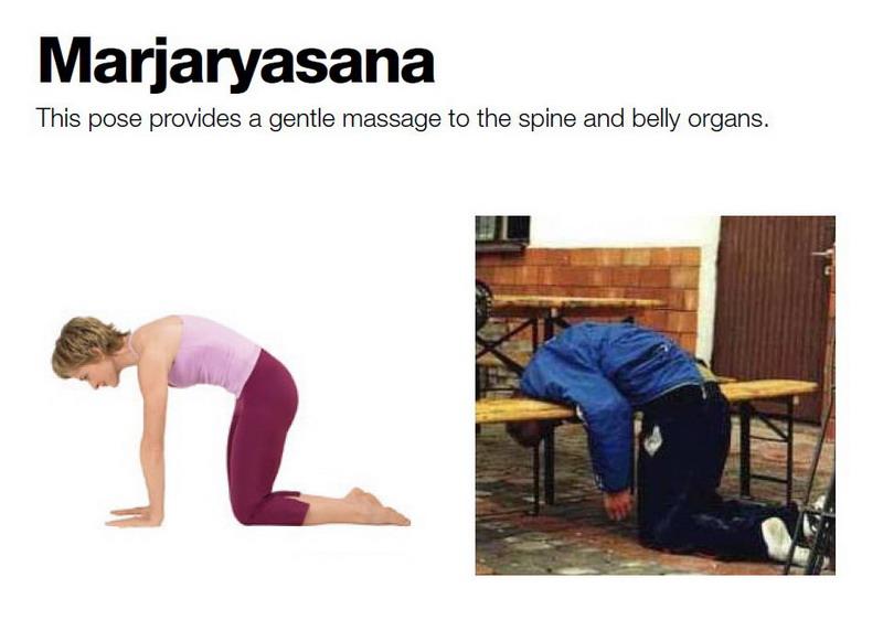 Marjaryasana — Эта поза обеспечивает нежный массаж органам брюшной полости и спинному хребту