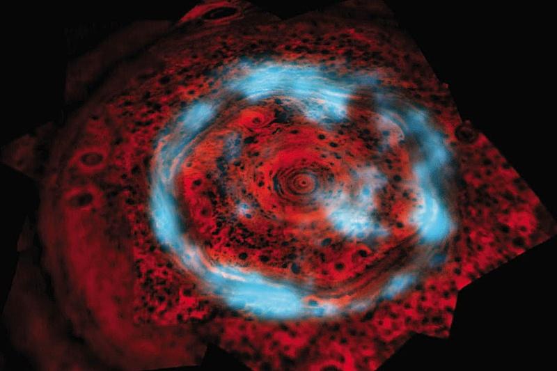 Unusual Auroras Over Saturn's North Pole
