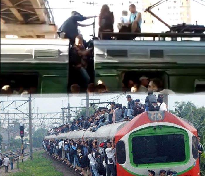 Люди на крышах электричек (видео+текст)
