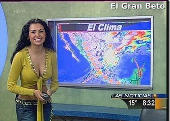 голые телеведущие программ новостей погоды