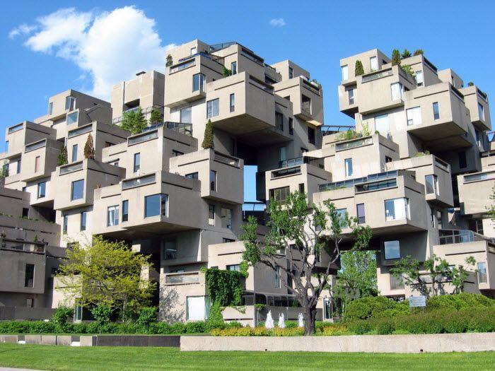 Жилой комплекс Habitat-67. Монреаль, Канада