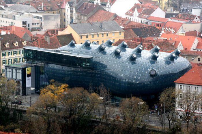 Graz Art Museum - Музей искусств в Граце, Австрия