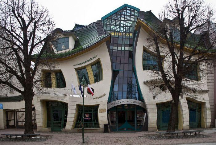 Crooked house. Сопот, Польша