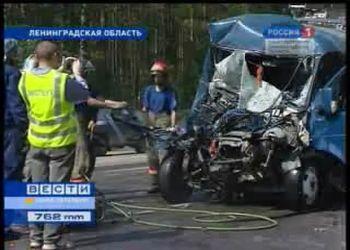 Жесткая авария газели и автобуса