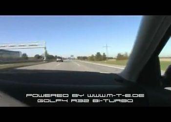 VW Golf R32 едет 310 км/ч