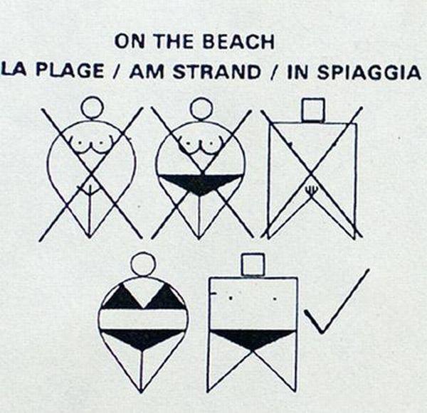 Самые необычные знаки найденные на пляже (10 фото)