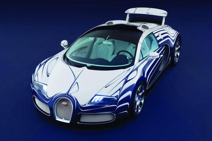 Bugatti Veyron Grand Sport L'Or Blanc - фарфоровый эксклюзив (34 фото)
