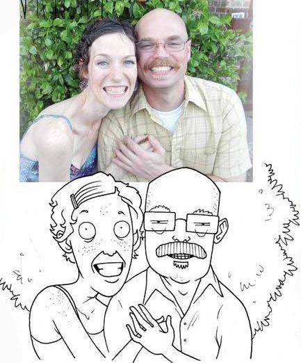 Забавные карикатуры с фото (19 фото)