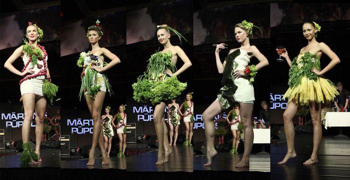 Рижский показ коллекции съедобной одежды Food & Fashion (10 фото)