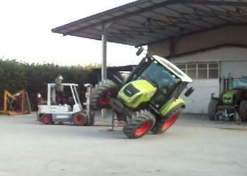 Езда на тракторе на двух колесах