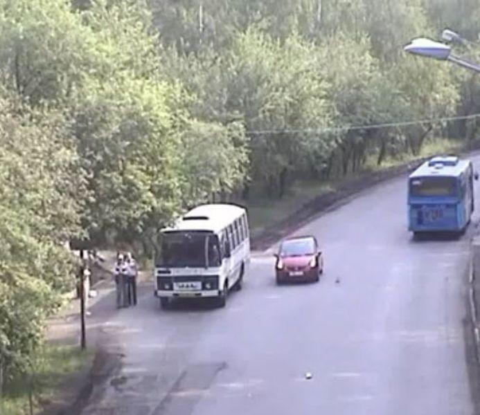 ДТП с Клименковой Юлией. Красноярск, 06.06.2011.  (видео)