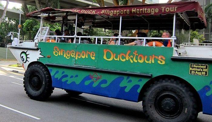 Авто-амфибия для экскурсий в Сингапуре (3 фото+видео)