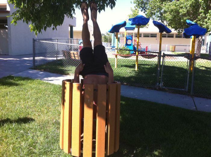 Новая мания - вертикальный планкинг (27 фото)