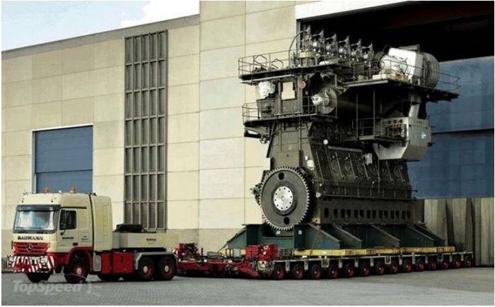 Самый большой дизельный двигатель в мире - Wartsila-Sulzer-RTA96-C (6 фото)