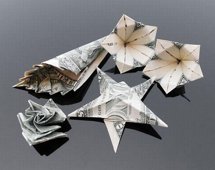 оригами в картинках из купюр красивые