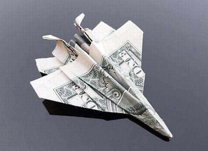 оригами в картинках из купюр меня были как-то