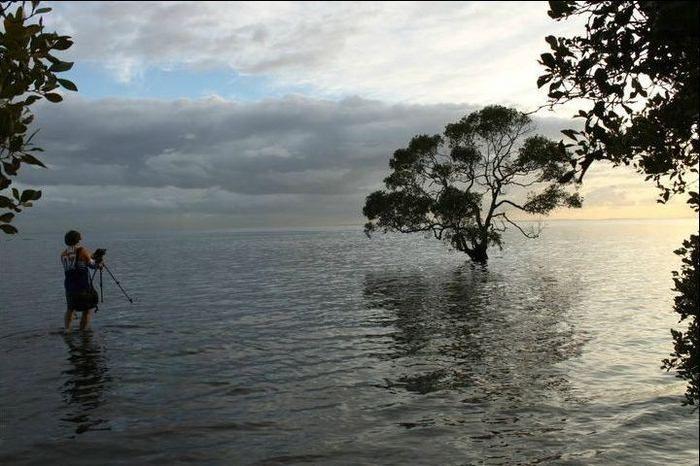 Восход солнца на озере (4 Фото)