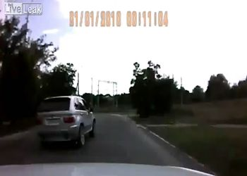 BMW X5 вылетел с дороги