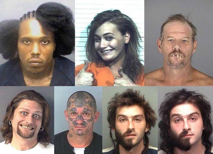 Лучшие фотографии арестованных из США (25 фото)
