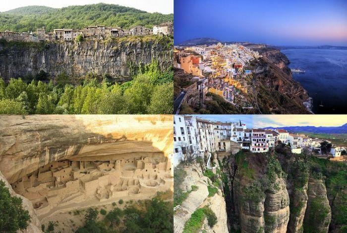 Города построенные на скалах (11 фото)