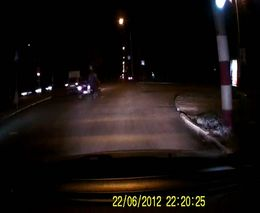 Мотоциклист погасил фонарь пятнашки