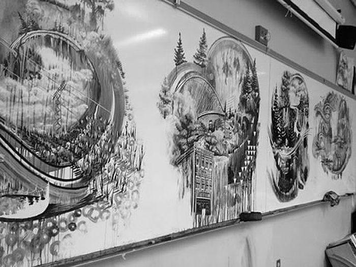 Картины, нарисованные во время перерыва на обед (10 фото)