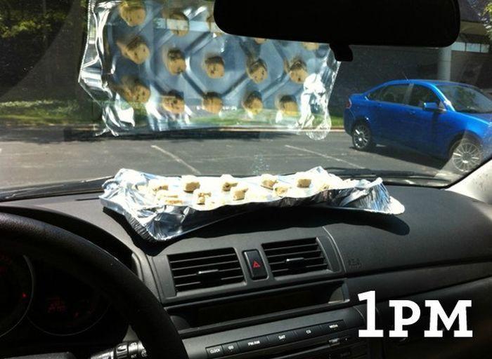 Приготовление печенья без духовки и прямо в машине (3 фото)