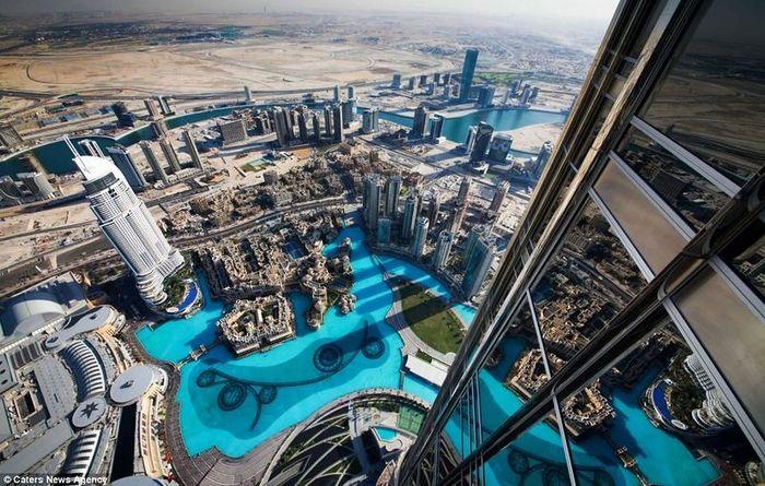 Дубай с высоты небоскреба (15 фото)
