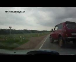 Авария с Нивой в Башкирии